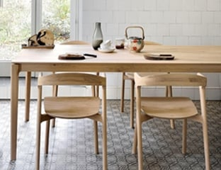 Solid Oak Extendable Dining Table by Adventures In Furniture.