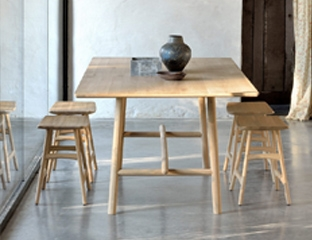 Large Solid Oak Dining Table designed By Adventures In Furniture.