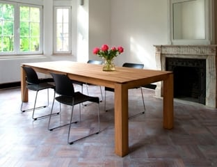 Contemporary Oak Dining Table By Adventures In Furniture.