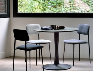Black Oak Round Dining Table By Adventures In Furniture.
