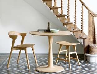 Round Solid Oak Dining Table By Adventures In Furniture.