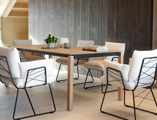 Modern Oak Dining Table By Adventures In Furniture.